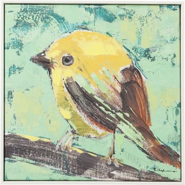 Bild Touched Bird Green Back 40x40cm