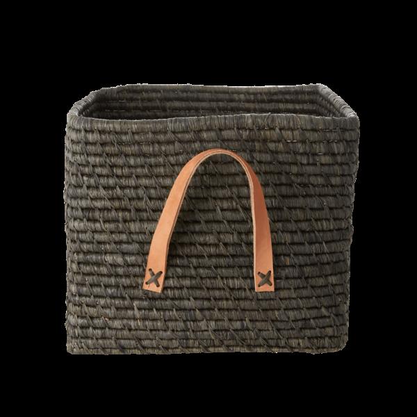 Aufbewahrungskorb aus Bast, verschiedene Farben, Größe ca, 27x27x30, reine Handarbeit