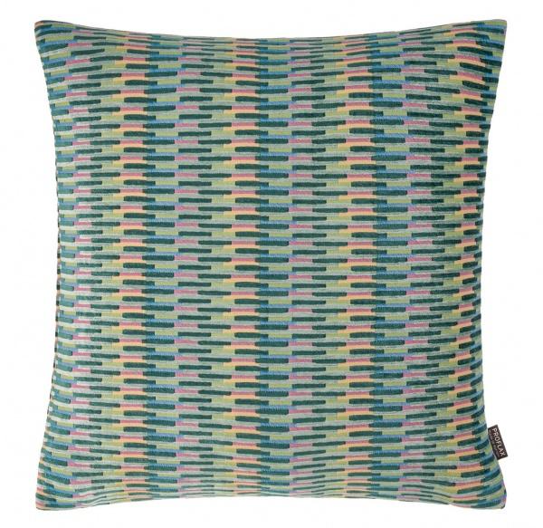 Kissenhülle Lyon, rechteckige Farbfelder auf weichem Chenillestoff, verschiedene Größen