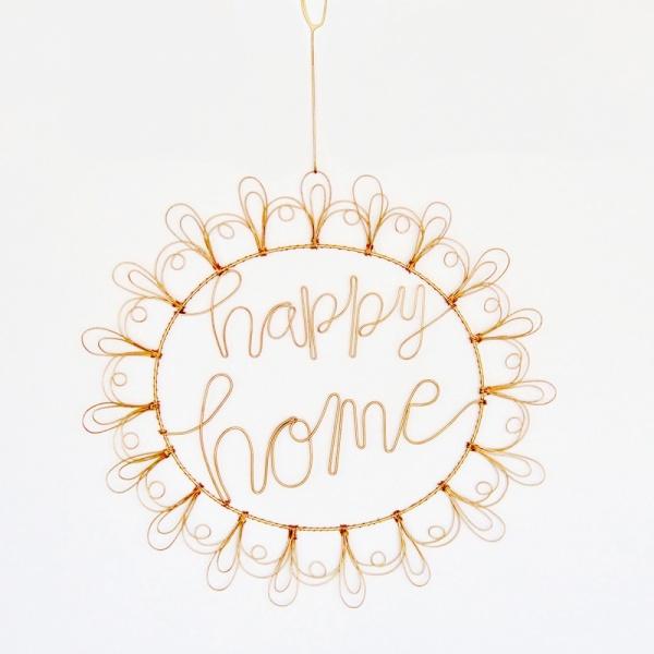 Wandbild Twirl HAPPY HOME