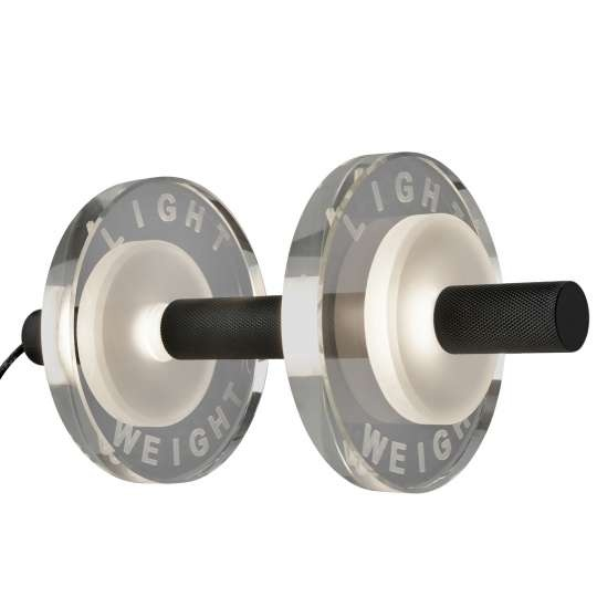 Tischleuchte Light Weight, LED-Leuchte, Material: Aluminium silber oder schwarz - Glas klar/matt