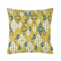 Kissenhülle Salento, grafisches Muster in Farbe limone, Größe 30x50 cm, Materialmix