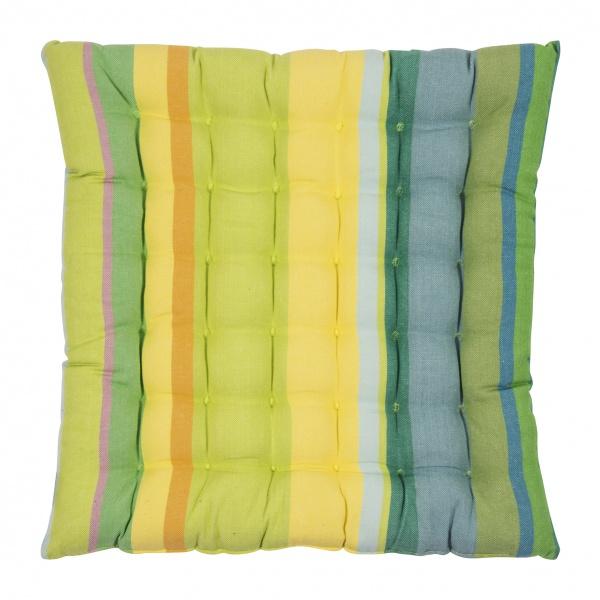 Sitzkissen SMILE, Größe 40x40x3 cm, sommerliches Streifenmuster in verschiedenen Farben