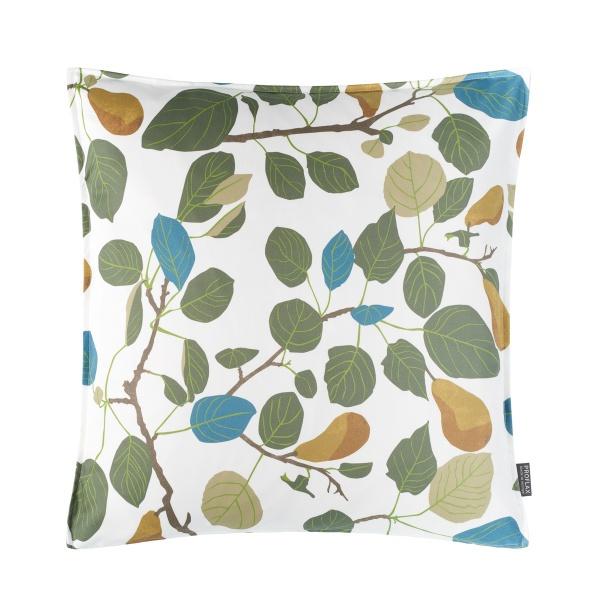 Kissenhülle Pera, herbstlich All-Over-Druck Blätter, verschiedene Größen, Farbe verde