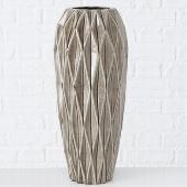 Vase Tigan, Steingut Crackle, Farbe grau, Größe 49 cm, Bodenvase