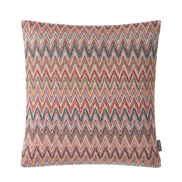 Kissenhülle Jola,Jaquard mit Zick-Zack-Muster, Farbe terra, verschiedene Größen