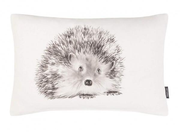 Kissenhülle Rizzo- Igel grey, 30 x 50 cm, Digitaldruck