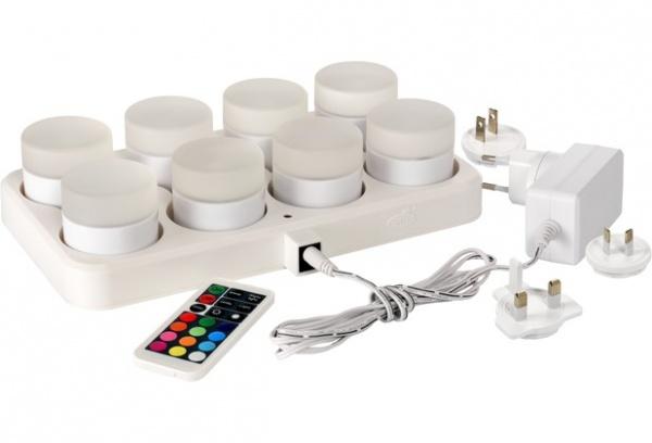 DUNI LED MINI Lamp, LED-Kerzen mit Ladestationen und Fernbedienung, verchiedene Ausführungren