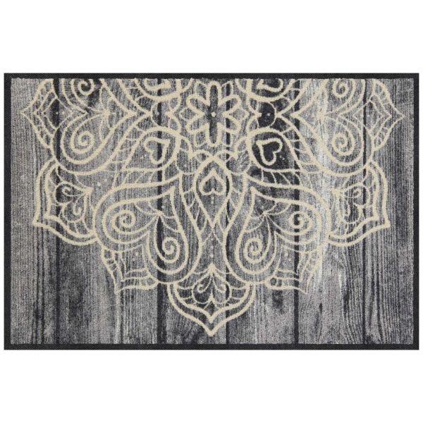 Fußmatte , Eingangsmatte, Größe 50 x75 cm, Grau- / Beigetöne