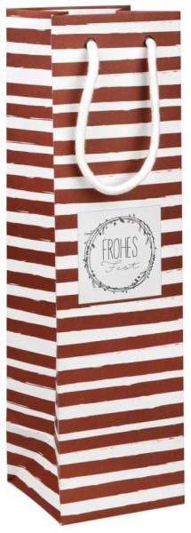 Geschenktüte / Verpackung für Flaschen, Papier, Größe 10x10x36 cm