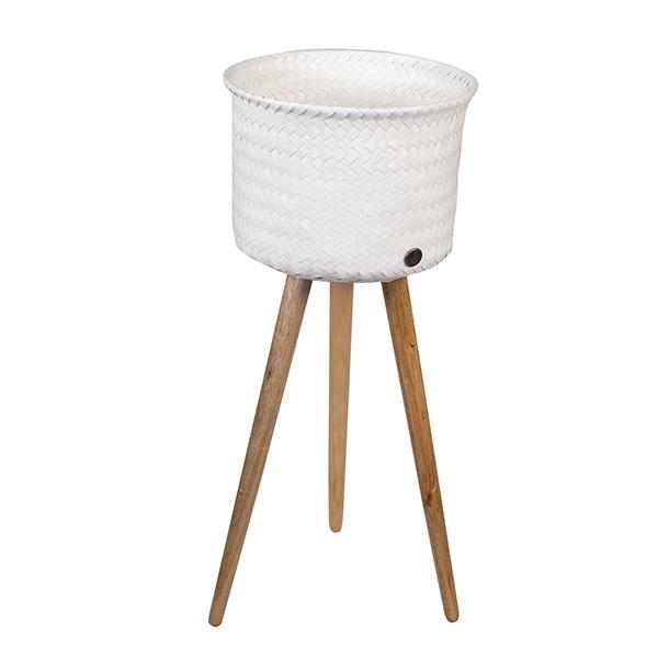 Up High Basket, Pflanzgefäß / Übertopf mit Füssen, Größe 20x26x26 cm, Höhe total 60 cm, verschiedene