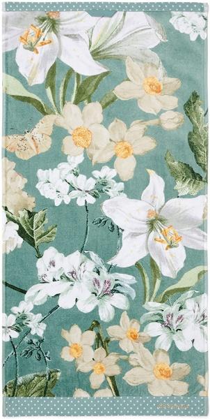 Frottierkollektion Rosalee, Farbe Grün, 100% Baumwollvelour, Verschiedene Artikel
