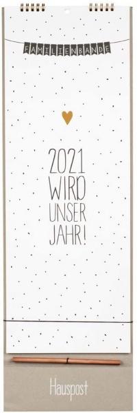 Office Familienplaner 2021, Wandkalender, 5-spaltig
