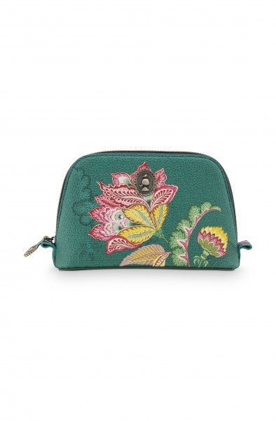 PIP Cosmetic Bag Triangle, Größe klein 19x15 cm, Muster Jambo Flower green