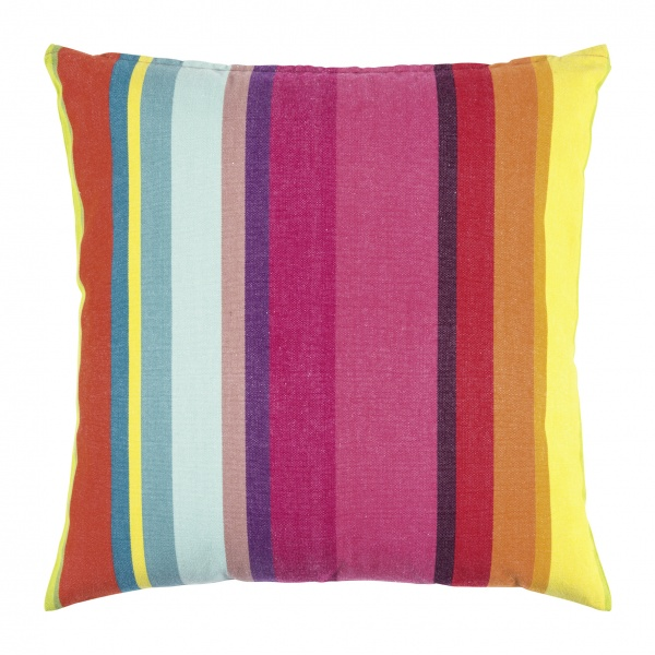 Kissenhülle SMILE, Größe 50x50cm, 100% Baumwolle, sommerliches Streifenmuster verschiedene Farben