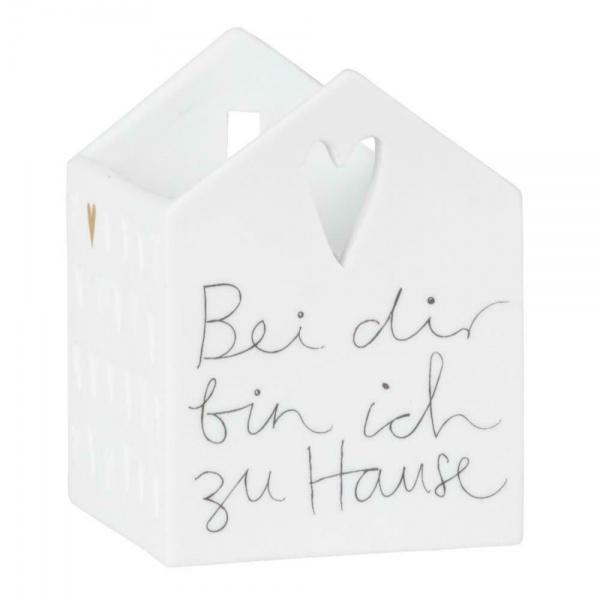 Lichtspielhaus LIVING, Porzellan weiß, verschiedene Motive, Größe ca. 5x5x7 cm