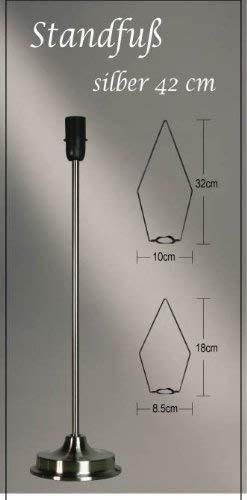 Standfuß für Weihnachtssterne, Höhe 45 cm , silber