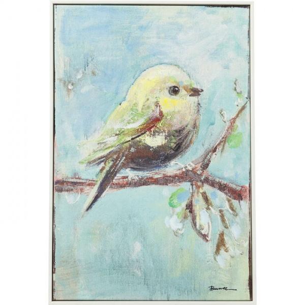 Bild Touched Bird Blue Back 60x40cm
