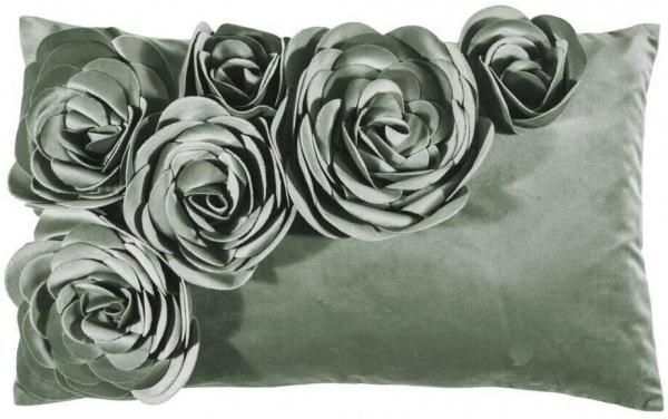 Kissenhülle Floral, Größe 30c50 cm, Samt mit Blumenapplikation