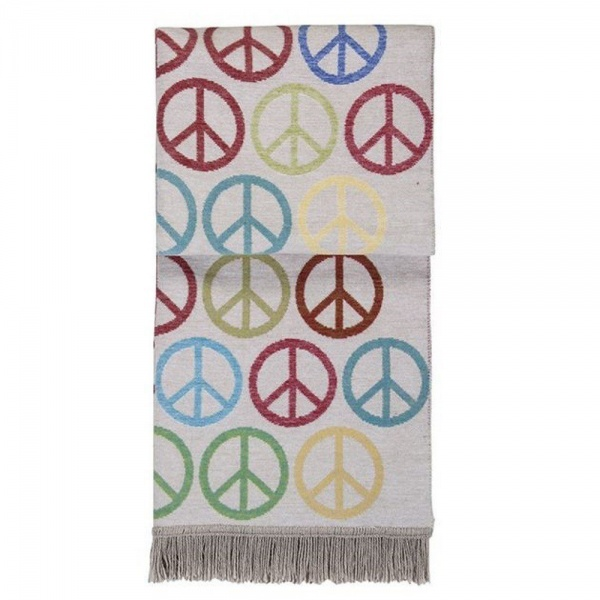 Plaid / Wohndecke PEACE - Zeichen