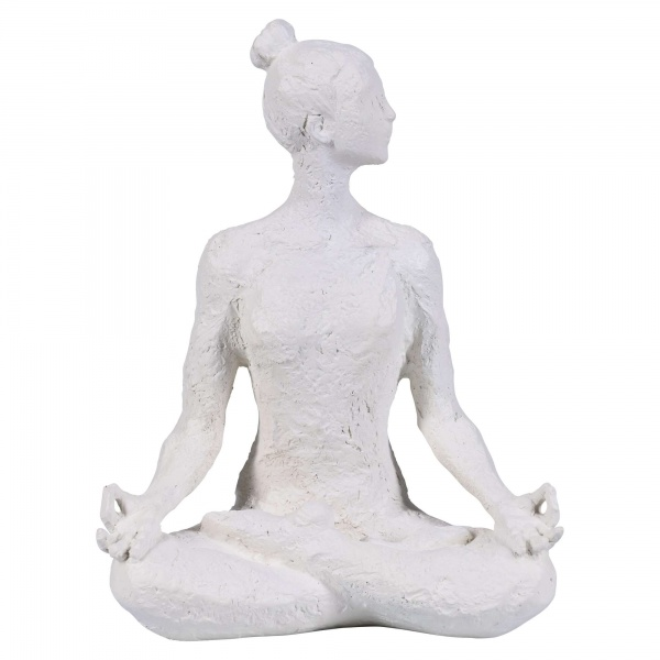 Yoga Figuren, verschiedene Positionen, Yogafiguren in Betonoptik,