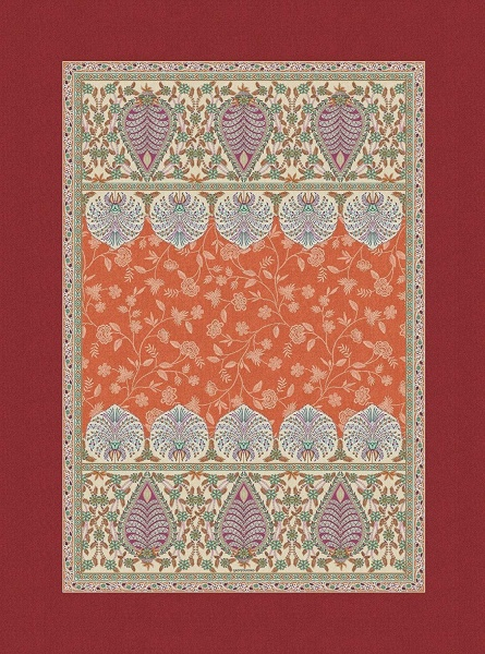 Teppich Barisano, Farbe O1 orange oder C1 blau, verschiedene Größen