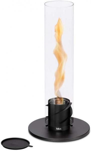 Tischfeuer, Spin 120, Edelstahl mit Glas, verschiedene Farben