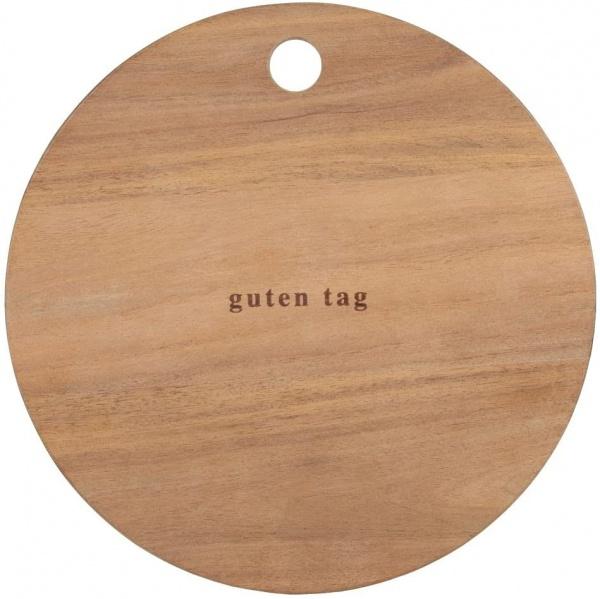Brettchen rund mit Prägung, DINNIING, Größe: D 24,5 x 2 cm, Akazienholz, verschiedene Muster
