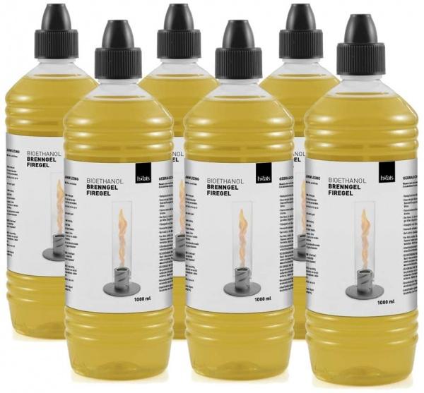 Spin Bioethanol, 1Liter Flasche, Zubehör für Tischfeuer