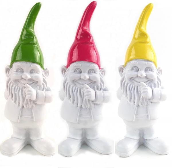 Zwerge stehend 11 cm, 3-er Set in verschiedenen Farben