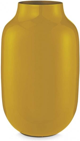 Vase Metall Oval farbig emailliert, verschiedene Farben
