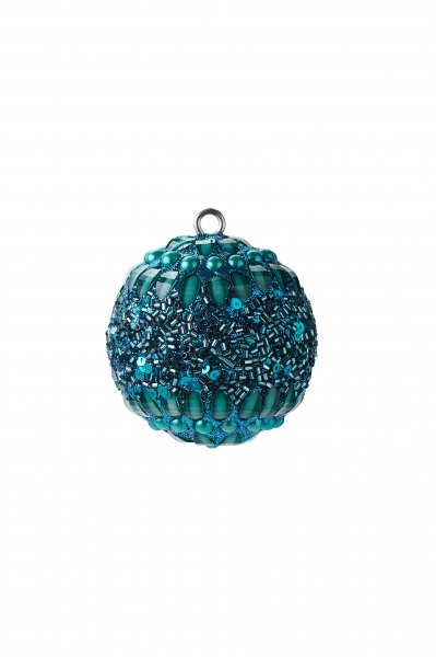 Weihnachtskugel Opium, Größe 6 cm, mit Perlen/ Pailetten/ Steinen, verschiedene Muster
