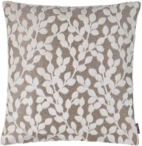 Kissenhülle Dinora, gewebtes Blättermotiv mit Hoch-/Tiefstruktur, Größe 40x40 cm, verschiedene Farbe