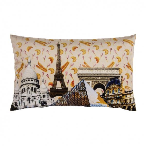 Kissenhülle HOTSPOT, Muster Paris, Größe 35x60cm