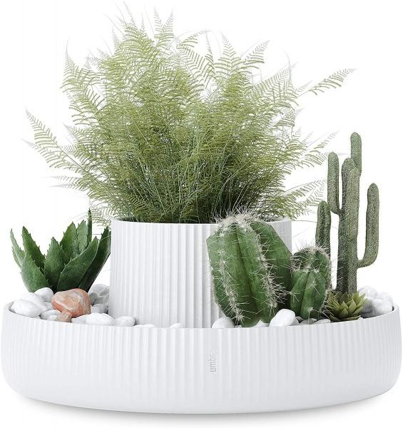 Fountain White, Übertopf, Präsenter für viele verschiedene Dinge, Porzellan weiß