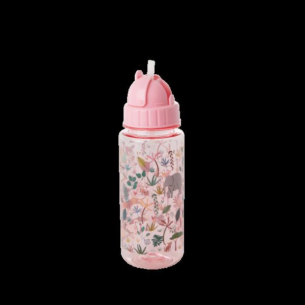 Plastic Kids Drinking Bottle with Jungle Animal Print, verschiedene Farben