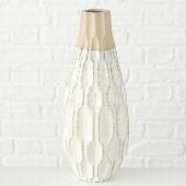Vase Malia, Steingut, Höhe 35 cm , Farbe cremeweiß