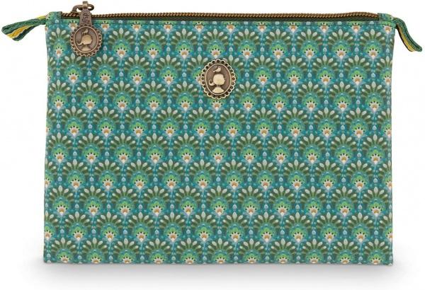Kosmetiktasche flach klein; Muster Rococo/Petites Fleurs Multi, Größe ca. 20x15 cm