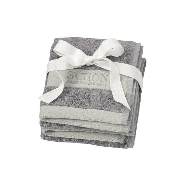 Bad-Handtuch klein 2er Set / Gästehandtücher