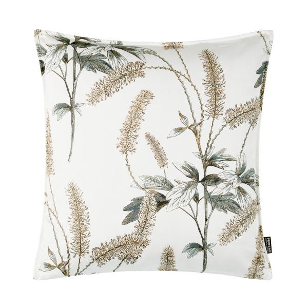 Kissenhülle Botanica, Gräserdruck auf mercerisierter Baumwolle, Farbe natur, Größe 50x50 cm