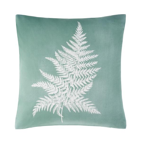 Kissenhülle Ernando, Druck Fr´arn auf Baumwolle, Größe 50x50 cm, Farbe petrolgrün