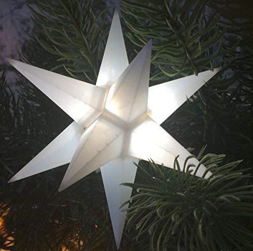 STARLED, Stern 12 Zacken Kunststoff, outdoorgeeignet