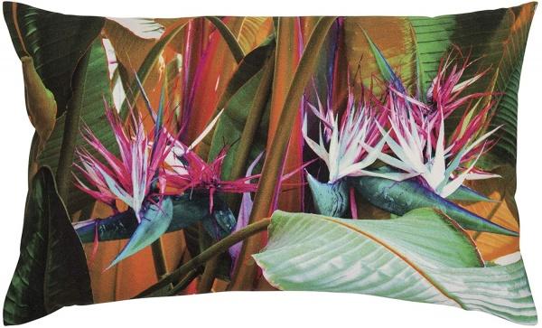 Kissenhülle BOCA, trendige florale Kissenhülle in Farbe multi, Größe 30x60 cm
