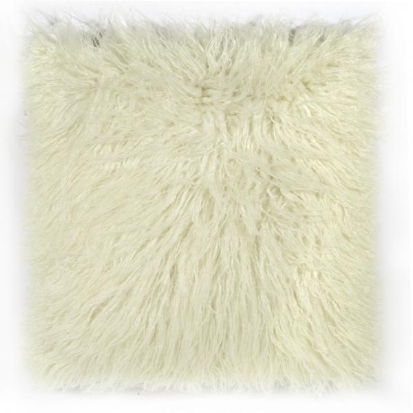 Kissenbezug Fluffy 60 x 60 weiß