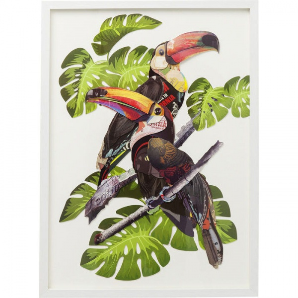 Bild Frame Art Paradise Bird Couple 70x50cm