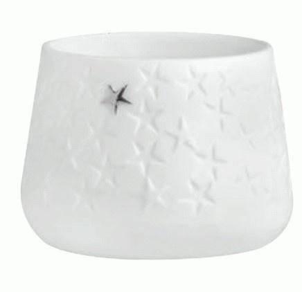 Living Porzellanwindlicht Sterne, Größe 5,5 x 4 cm, mit Druck